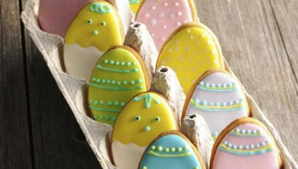 Galletas en forma de huevo de pascua. (Foto: Kiwilimón)