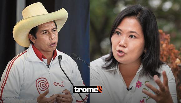 Conteo oficial de la ONPE: Pedro Castillo sigue superando a Keiko Fujimori