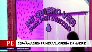 """España: Estrenan """"Llorería"""" para que jóvenes lloren y traten su salud mental"""