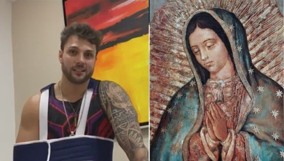 Nicola Porcella le pidió 'un milagrito' a la Virgen  de Guadalupe. (Instagram)