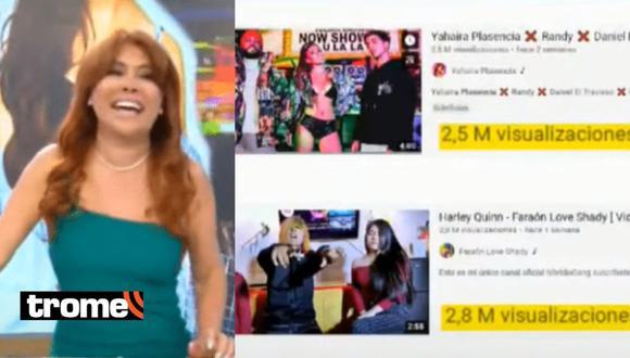 Magaly Medina se burla de Yahaira Plasencia porque Faraón Love Shady tiene más visitas que ella en YouTube
