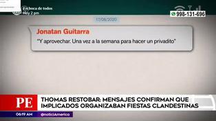 Thomas Restobar: mensajes confirman que implicados organizaban fiestas clandestinas
