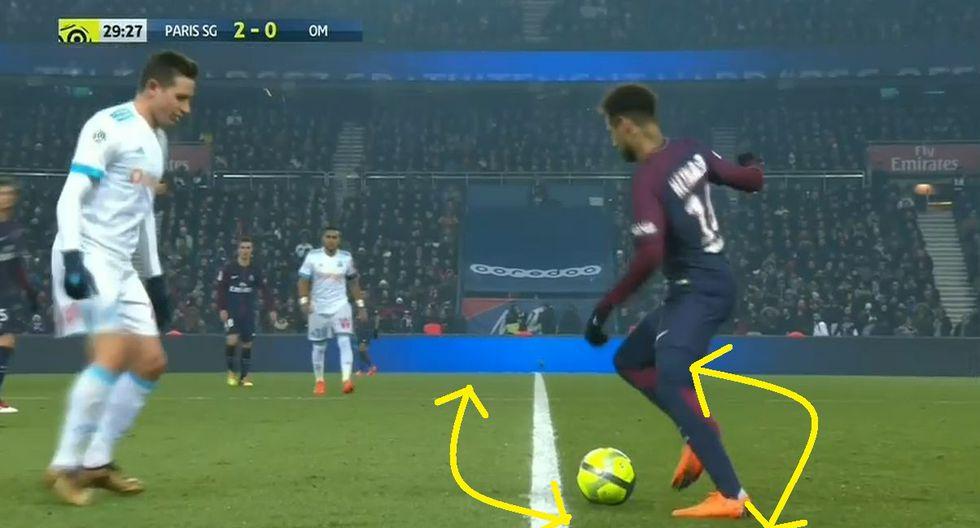Neymar humilla a sus rivales: Baila samba y no pueden robarle con la pelota en PSG vs Marsella