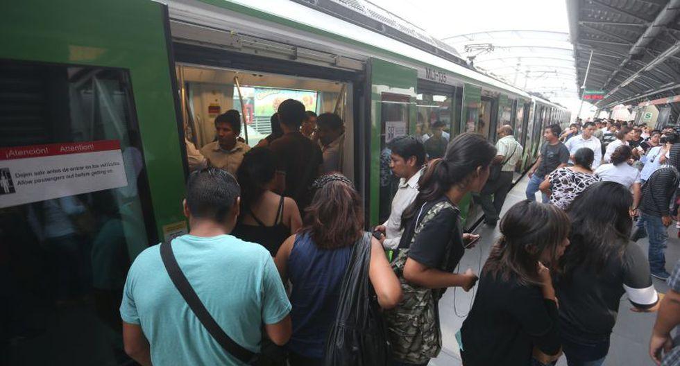Los pasajeros de la Línea 1 del Metro de Lima deberán tomar sus previsiones este 24 y 25 de diciembre. (Foto: GEC)