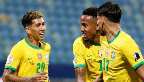 Eder Militao marcó un gol en la Copa América y fue ante Ecuador en la fase de grupos (Foto EFE)