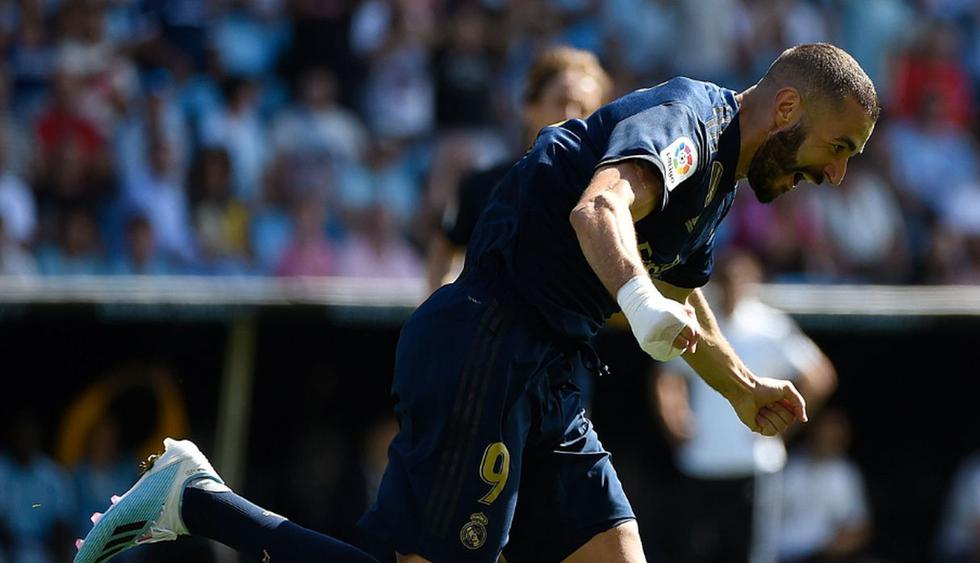 Karim Benzema anotó el primer gol para Real Madrid. (Fotos: Agencias)