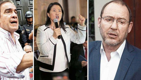 Pelean por Keiko Fujimori luego de allanamiento a locales de Fuerza Popular