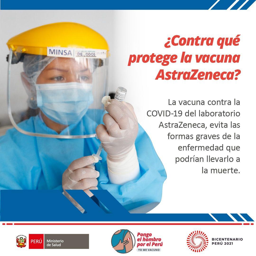Conoce más sobre la vacuna AstraZeneca. ¿Cómo funciona y cuántas dosis debe aplicarse? Aquí te lo explicamos. Foto: Minsa