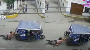 Mujer fue arrastrada por delincuentes en mototaxi