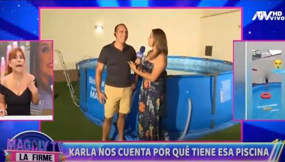 Karla Tarazona le exige a su esposo que construya piscina