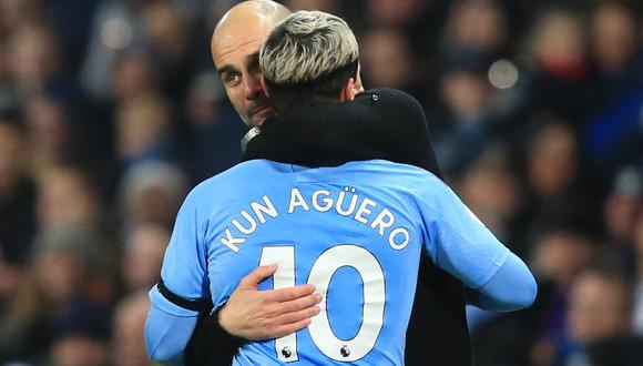 Guardiola tiene contrato con el City hasta junio del 2023. Agüero ya anunció que cambiará de equipo. (Foto: AFP)