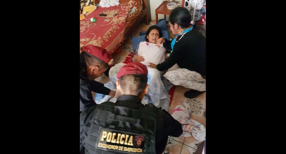 Madre e hijo fueron llevados a nosocomio de Essalud Diaz Ufano y señalaron que están sanos y salvos.