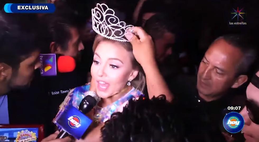 Ataque a Angelique Boyer durante coronación en festival de Estados Unidos.