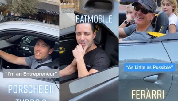 Los videos virales de una estrella de TikTok que aborda a los dueños de lujosos autos para preguntarles qué hacen por la vida causa furor en las redes sociales. | Crédito: @itsdanielmac / TikTok.