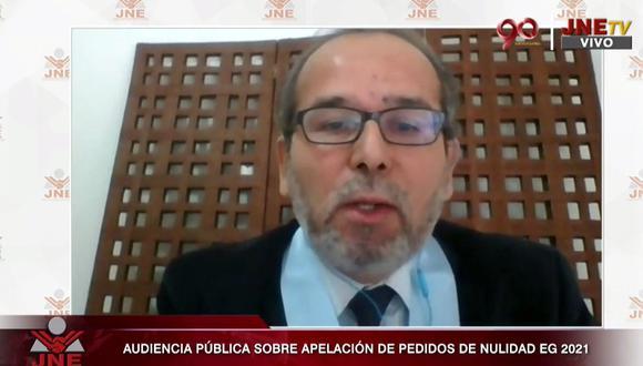 Perú Libre, a través de abogados como Ronald Gamarra y Julio Arbizu, pidieron confirmar el rechazo a las nulidades de Fuerza Popular. (JNE)