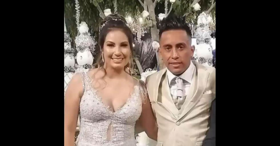 Christian Cueva y su esposa Pamela López