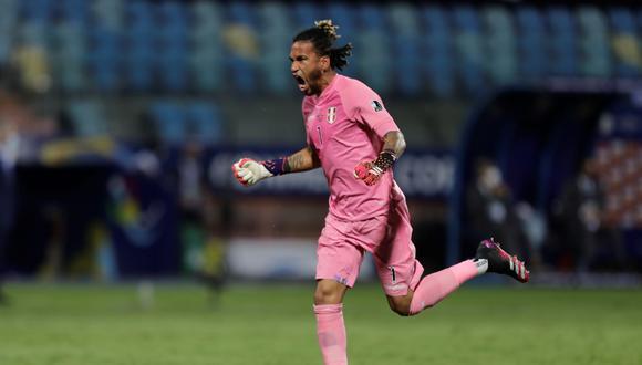 Pedro Gallese hace historia con la Selección  EFE/Joedson Alves