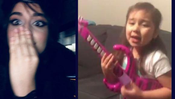Camila Cabello se queda sin palabras al ver a esta pequeña niña cantar su canción