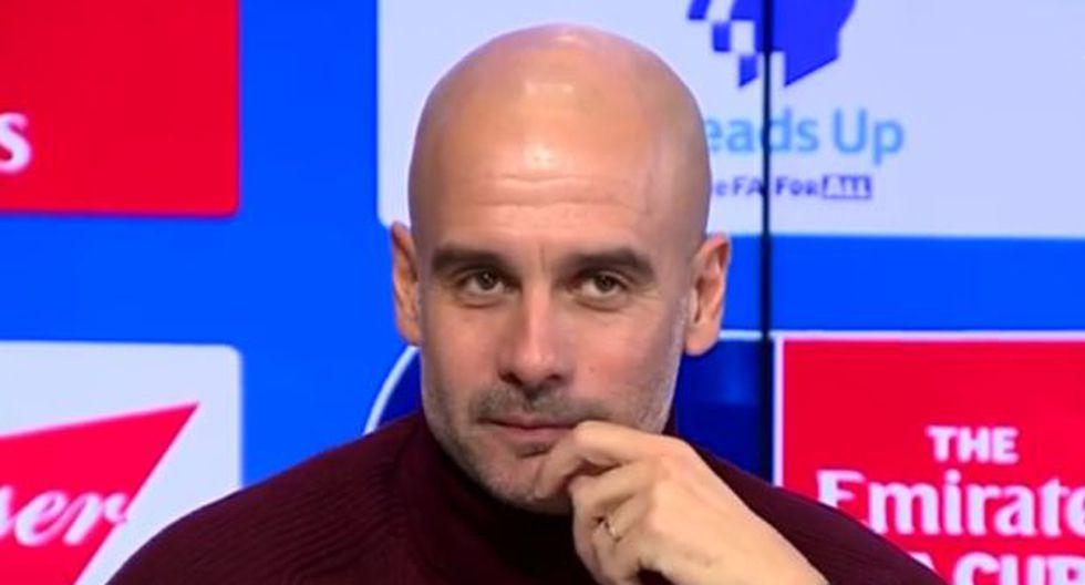"""Pep Guardiola dio una respuesta irónica a periodista y lo dejó mal parado en plena conferencia en vivo: """"Lo acepto. Soy un fracasado"""""""