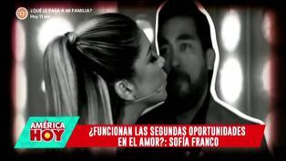 """Sofía Franco sobre su relación con Álvaro Paz de la Barra: """"Tratando de arreglar las cosas"""""""