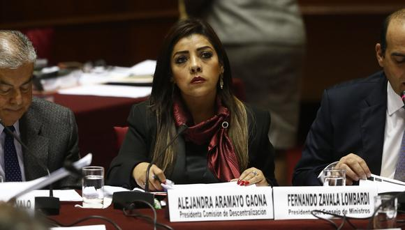 Dan con palo a fujimorista Alejandra Aramayo.