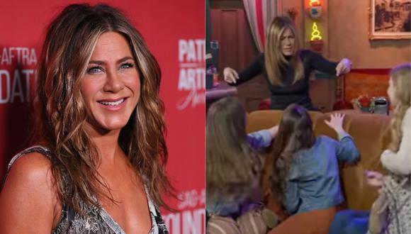 "Jennifer Aniston emocionó a sus fans que visitaron el set de ""Central Perk""  (Foto: AFP/Captura)"