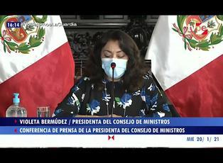 """Violeta Bermúdez: """"Pese a difícil situación de la pandemia, elecciones se realizarán el 11 de abril"""""""