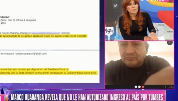 Ciudadano peruano Marco Huarango expuso su caso en Magaly Tv. (Captura ATV)
