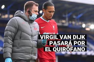 Liverpool: Virgil Van Dijk deberá ser operado de la rodilla tras dura entrada del portero del Everton