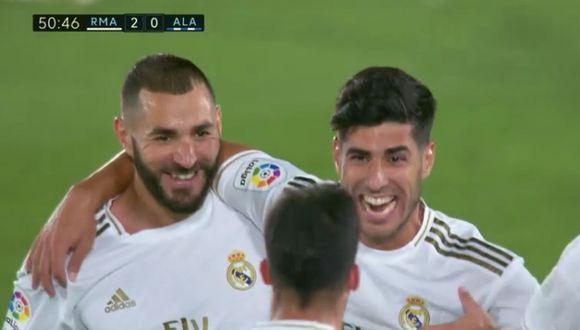 Gol con suspenso de Marco Asensio en Real Madrid vs Alavés
