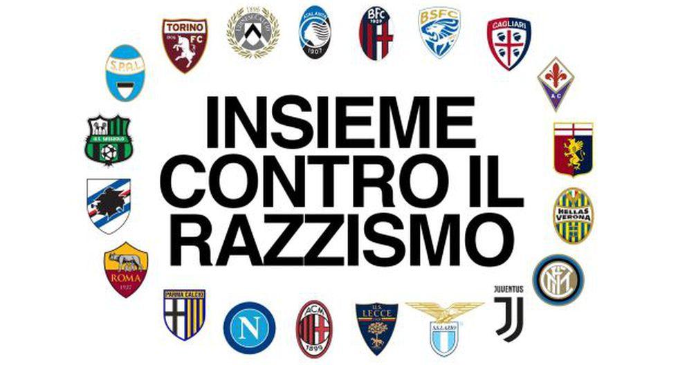 Serie A: Todos los clubes del Calcio rechazaron el racismo en el fútbol italiano