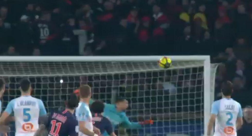 GOLAZO de Di María: Tiro libre estratosférico en el clásico PSG vs Marsella por Ligue 1 ¡A LO MESSI!