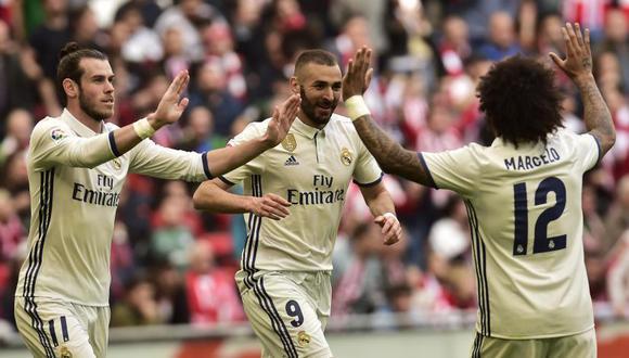 Real Madrid ganó 2-1 al Athletic Bilbao
