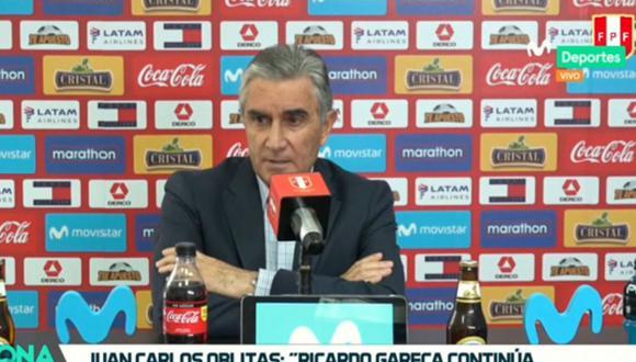 Juan Carlos Oblitas ratificó a Ricardo Gareca como técnico de la selección peruana