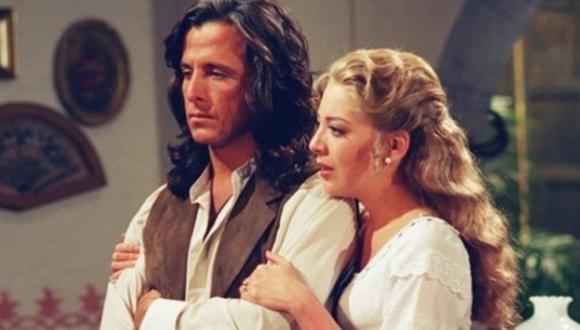 """Edith González y Eduardo Palomo conquistaron a los televidentes con la gran química que tenían en la telenovela """"Corazón salvaje"""" (Foto: Televisa)"""