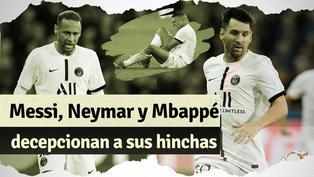 PSG: Messi, Neymar y Mbappé en la polémica tras su debut en Champions League