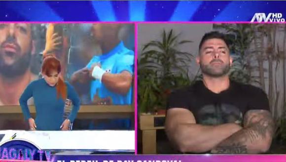 'El hombre roca' Sebastián Lizarzaburu se pronunció por el ataque contra el vehículo de su mamá. (Captura Magaly TV)