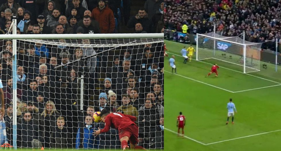 Manchester City vs Liverpool: Gol Firmino (Fuente: Premier League)