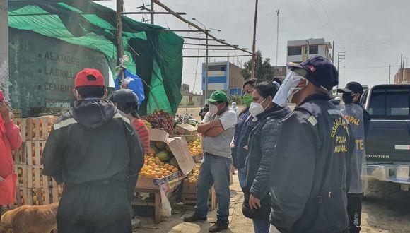 Áncash: reubican a vendedores ambulantes del distrito de Nuevo Chimbote (Foto difusión).