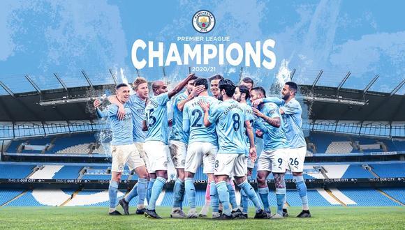 City se proclamó campeón de la Premier League por tercera vez en cuatro años. (Foto: Manchester City)