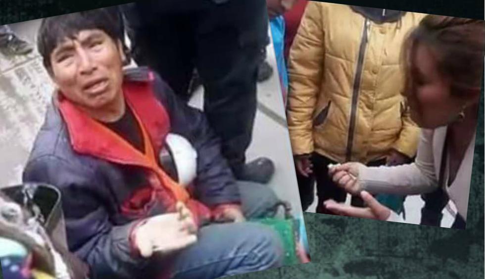 Huancayo: Soldador pide entre lágrimas que le paguen por su trabajo aferrándose a máquina prestada