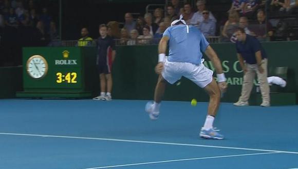 Juan Martín del Potro y la 'Gran Willy' ante Andy Murray en Copa Davis [VIDEO]