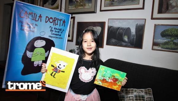 """Puedes adquirir su libro en la página de Facebook: """"Camila Dorita: Mis dibujos en tiempo de coronavirus"""". (Foto: Trome)"""