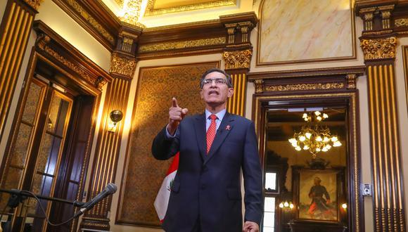 Martín Vizcarra brindó un pronunciamiento para asegurar que acatará la decisión y nombrará un nuevo gabinete. (Foto: Presidencia)