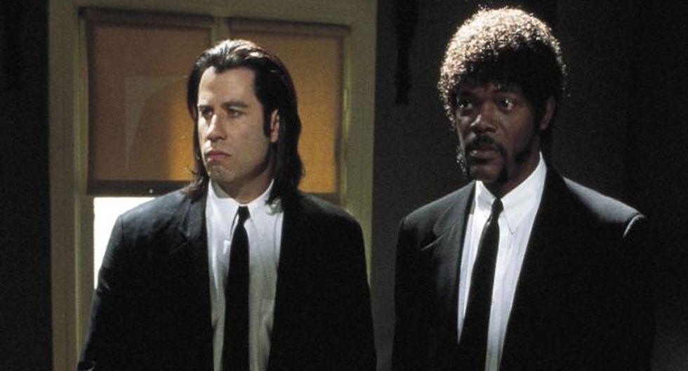 Pulp Fiction, con John Travolta y Samuel L. Jackson.