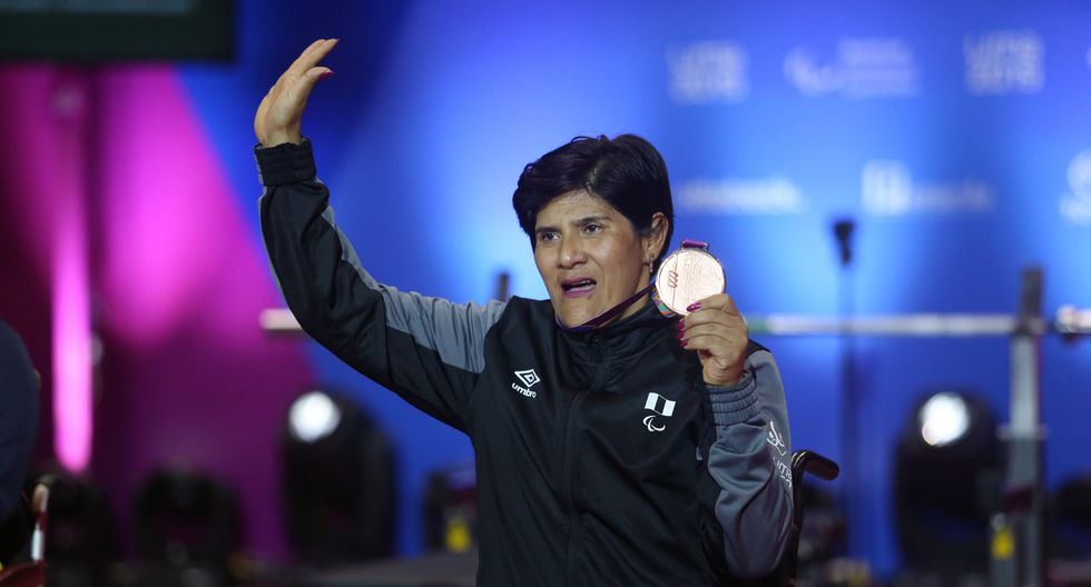 Juana Vásquez: Medalla de bronce en para powerlifting. (Foto: Violeta Ayasta / GEC)