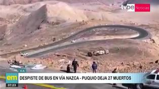 Ica: Accidente de autobús deja más de 20 fallecidos en vía Nazca - Puquio