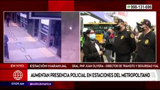 Incrementan presencia policial en las estaciones del Metropolitano