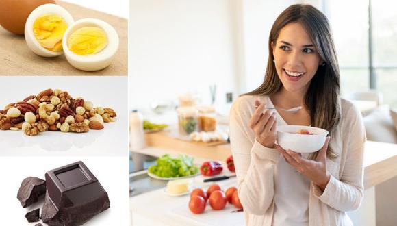Combinar una buena cantidad de algún alimento bajo en calorías, como las fresas o la manzana verde, junto con una grasa saludable como la mantequilla de almendras, dará como resultado un refrigerio nutritivo, equilibrado y que lo mantendrá saciado por horas. Fotos: iStock.