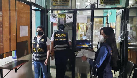 """PNP y Fiscalía allanan oficinas de municipio por caso """"Los Pulpos de Satipo"""", en Junín. (Foto: Mininter)"""
